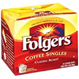 Folgers Coffee Singles, Classic Roast, 19-Count (Pack of 6)