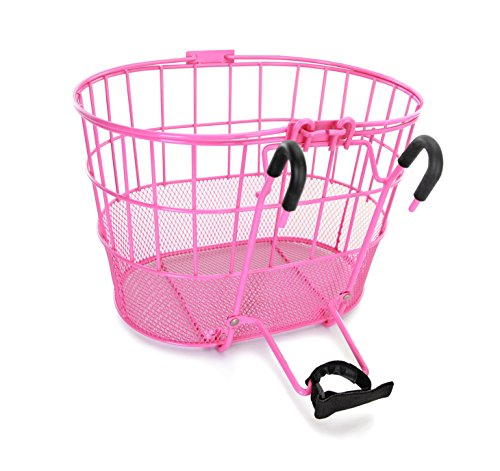 Why Choose Colorbasket Mesh Bottom Lift-Off Bike Basket, Pink