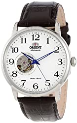 "Orient Men's FDB08005W ""Esteem"" Stainless Steel Watch with Brown Leather Band"
