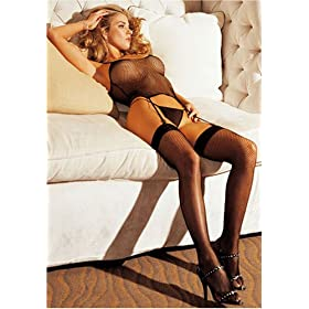 Fishnet 3 Piece Set Top, Thong, Stockings Available in One Size or Queen Size