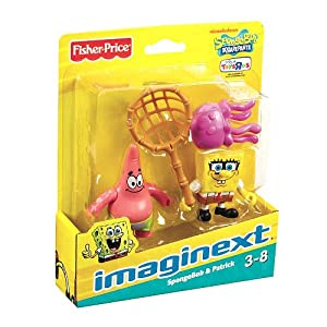 SpongeBob Squarepants Imaginext Exclusive Mini Figure 2Pack SpongeBob Patrick
