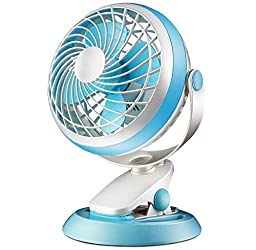 Generic Clip Fan USB Desk Fan Blue