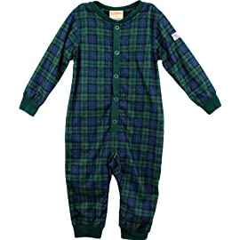 Dr. Denton Union Suit Green Plaid 1-Piece Pajamas 4/5-10/12