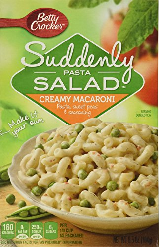 Betty Crocker Dry Meals Suddenly Pasta Salad Creamy Macaroni, 6.5 Ounce (Pack of 12)