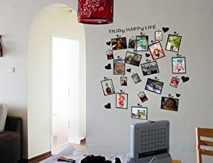 Adesivi pareti sticker da muro 60 60cm fashion black for Adesivi x pareti