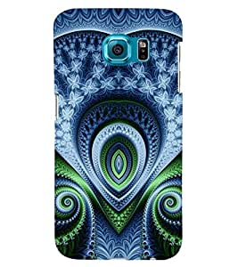 Printvisa Blue And Green Pattern Back Case Cover for Samsung Galaxy S6 Edge+ G928::Samsung Galaxy S6 Edge Plus G928F