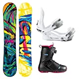 GNU B-Street BTX Ladies Complete Snowboard Package 2014 by Gnu
