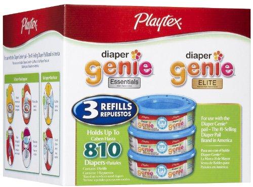 Playtex Diaper Genie Refill (810 Count Total - 3 Pack of 270 Each)