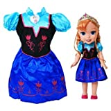 Disney Frozen Anna Toddler Doll/Dress Combo