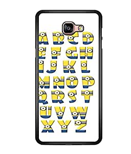printtech Aplphabets Minions Back Case Cover for  Samsung Galaxy A9 (2016)
