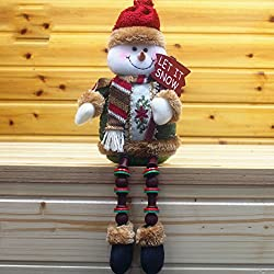 Gaosaili Christmas Standing Figurine Toy Xmas Home Indoor Table Ornament Decorations (Snowman)