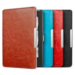 Anker® Lederhülle für Amazon Kindle Paperwhite 2014 2013 2012 Tasche PU Leder Case Schutzhülle mit Auto Sleep/Wake up - Smart Cover - Einfach & Leicht (Braun)