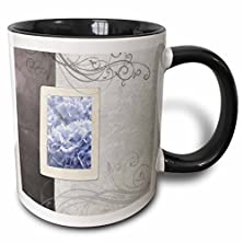 buy Ps Flowers - Blue Hydrangea With This Ring Wedding Floral - Romantic Flowers - 11Oz Two-Tone Black Mug (Mug_57827_4)