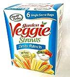 Sensible Portions Garden Veggie Straws - Zesty Ranch Flavor - Box of (6) 1oz Bags