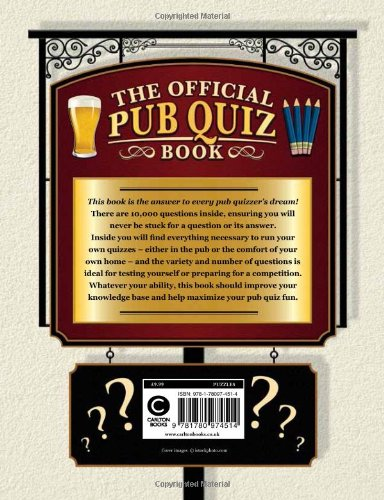 The Official Pub Quiz Book: The Ultimate Quiz-Master's Guide
