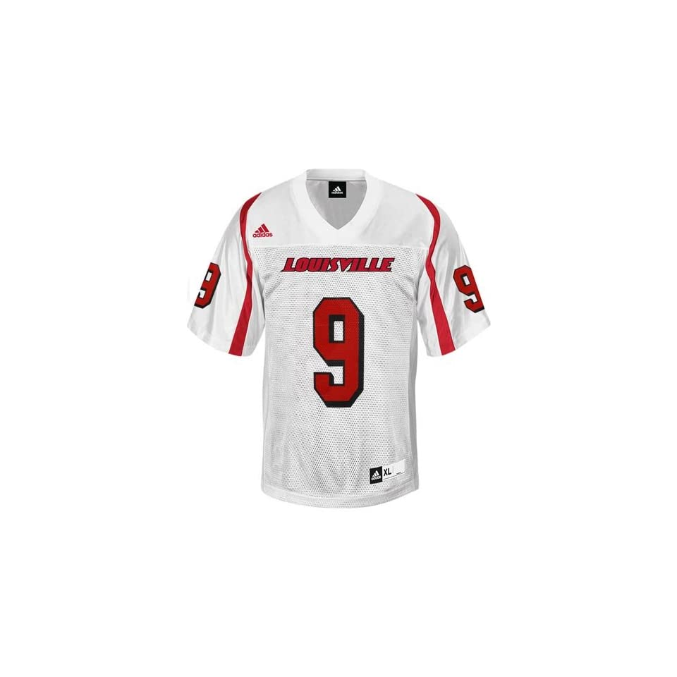 adidas Louisville Cardinals #9 Replica Football Jersey   White (Medium