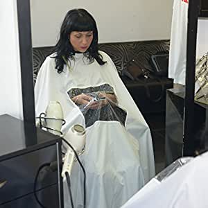 Amazon.com : Hair Cutting Gown Cape with Viewing Window Hairdresser