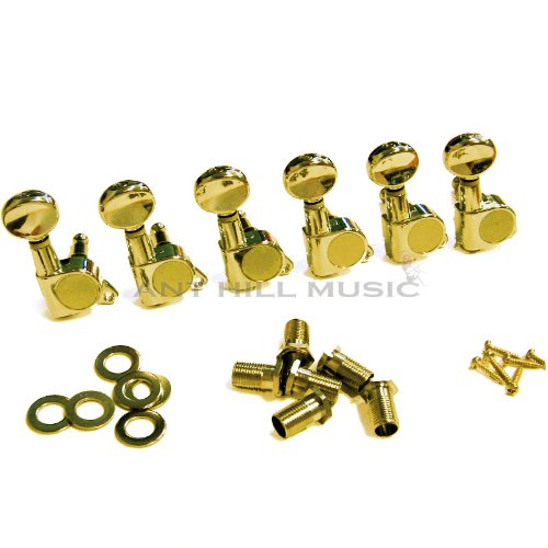 Wd Sealed Gear Deluxe Guitar Tuning Machines - 6 Inline - Gold - Sg3805Gl