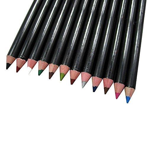 Contever® Set di matita per Occhi / Sopracciglia / Labbra / Eyeliner, 12 colori Penna Ombretto Duraturi Trucco Natura