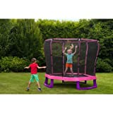 Plum Products 7ft Junior Jumper Trampoline and Enclosure (Pink/ Purple)