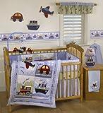 Bedtime Originals Travel Time 4-Piece Baby Crib Bedding Set , Blue