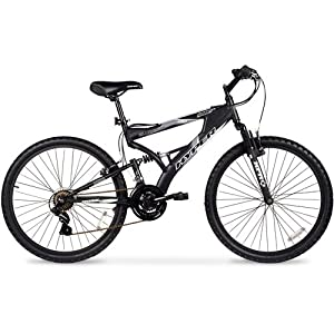 26 Hyper Havoc Full Suspension Mens Mountain Bike, Black by Generic