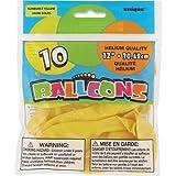 "Latex Balloons, 12"", Sunburst Yellow, 10 Count"