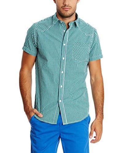 New Caro Camicia Uomo Camisa [Verde]