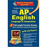 img - for AP English Language & Composition w/CD (REA) - The Best Test Prep for the AP (Advanced Placement (AP) Test Preparation) book / textbook / text book