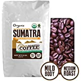 Sumatra Decaf Organic Fair Trade Coffee, Whole Bean, Mountain Water Processed Decaf Coffee, Fresh Roasted Coffee LLC. (2 lb.)