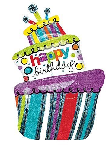 Happy Birthday Funky Cake Foil Balloon 37""