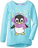 Derek Heart Big Girls' High-Low Sweatshirt with Penguin