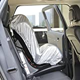 OxGord® Car Seat Sunshade Cover for Mommys to Protect Your Child Safety from Getting Skin Burnt on Hot Buckles, Protector Keeps Baby Infant Toddler Cool by Preventing High Heat Temperature Inside Vehicle - Auto Window Sun Protection with Carseat Shade Reflector UV Rays Helpers