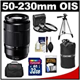 Fujifilm 50-230mm f/4.5-6.7 XC OIS Zoom Lens (Black) with 32GB Card + 3 UV/CPL/ND8 Filters + Case + Tripod Kit for Fuji X-A1, X-E1, X-E2, X-M1, X-Pro1 Digital Cameras
