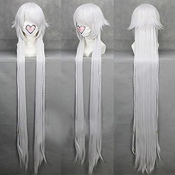 Black Butler/ Kuroshitsuji Undertaker 130cm Long Silver Cosplay Wig / 51''
