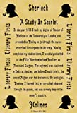 A4 Size Parchment Poster Literary First Lines Sherlock Holmes A Study in Scarlet