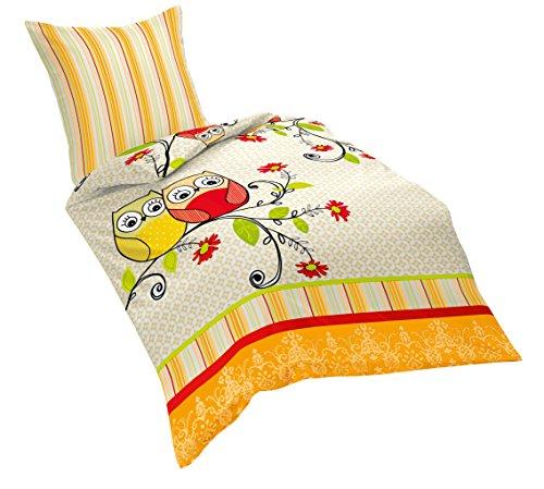 Fleuresse set biancheria da letto arancione orange - Amazon biancheria letto ...