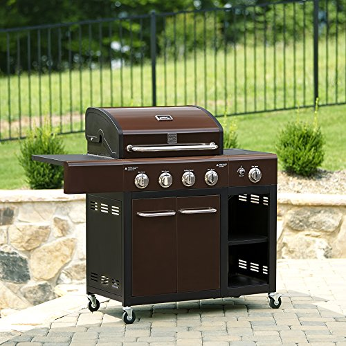 Kenmore 4 Burner Gas Grill with Stainless Steel Lid (Kenmore Gas Grill Side Burner compare prices)