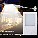 Ehome 20 LED Bright Solar Powered Gutter Lights Wall Sconces with Mounting Pole Outdoor Night Sensor Light Wireless Waterproof Security Lighting for Barn Porch Garage Garden Patio Path Driveway