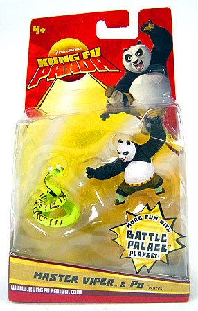 Kung Fu Panda Movie Figure 2-Pack Master Viper & Po