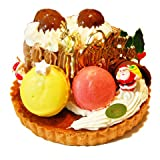 【送料無料】クリスマスケーキ「ノエル・ド・タルト」上質のタルト生地にXmasをイメージした切り株のロールケーキを乗せました。