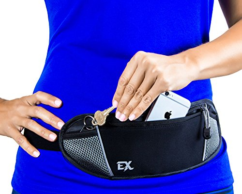 RUNNING-BELT-FANNY-PACK-Designed-For-Men-and-Women-Iphone-6-Plus-and-Android-Approved-Divider-Pocket-to-Prevent-Scratches-Comfortably-Carry-Everything-You-Need-180-Day-Satisfaction-Guarentee