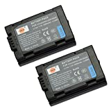 DSTE® 2pcs S602E Rechargeable Li-ion Battery for Panasonic CGR-S602, CGR-S603, DMW-BL14 and Lumix DMC-L1, DMC-LC1, DMC-LC5, DMC-LC40