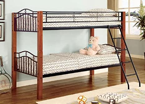 Coaster Furniture Twin over Twin Bunk Bed Haskell CO2248