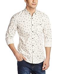 Wrangler Men's Casual Shirt (8907222641283_W14950945N1D_X-Large_Off White)
