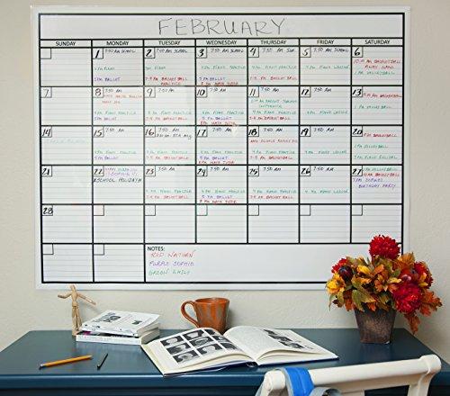 officeaid laminated jumbo dry erase wall calendar 36inch