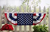 Patriotic American Flag Bunting Fence Decor By Collections Etc