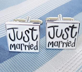 Samgu Homme Boutons de manchette fantaisie 'Just Married' Cufflink