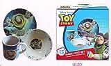 Toy Story 3 Pc Porcelain dinner Set in Printed Gift box, 8 oz Mug, 7.5 Rim Plate, 5.5 Bowl (No Florida)