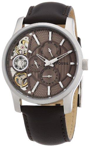 510861ad531 Fossil - ME1098 - Twist - Montre Homme - Quartz Analogique - Secondes  Automatiques - Bracelet Cuir Marron